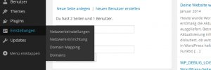 Neues Menü Domain Mapping und Domains